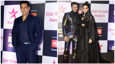 Star Screen Awards 2018: Salman Khan, Ranveer Singh, Deepika Padukone and Other Celebs Grace the Show Looking Glamorous (View Pics)